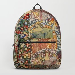 Classical Spring Floral Garden of Galileo Chini by Giorgio Kienerk Backpack