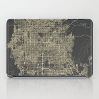 las vegas iPad Cases featuring Las Vegas Map #1 by Map Map Maps