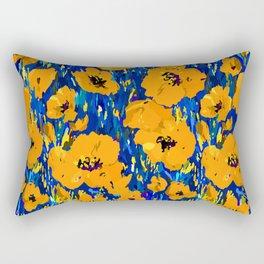 Wild Poppies — Orange Rectangular Pillow