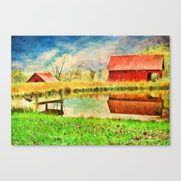 Farm Reflections Canvas Print