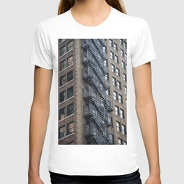 Kate Moss trapped in a building T-shirt