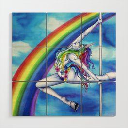 Pole Creatures: Unicorn Wood Wall Art