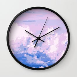 Cotton Candy in Sky Wall Clock
