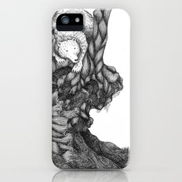 Bear in forest iPhone Case