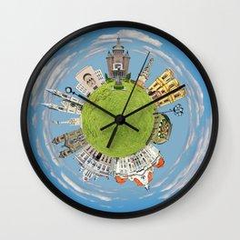 timisoara little planet Wall Clock