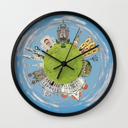 timisoara little planet Wall Clock