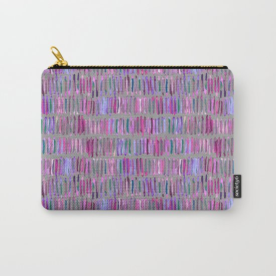 Messy Watercolor Stripes in Pink and Purple Carry-All Pouch