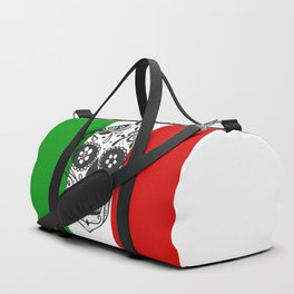 Mexican Skull With Italian Flag Duffle Bag