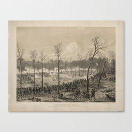 American Civil War: The Battle of Shiloh by Alfred Edward Mathews (1862) Canvas Print