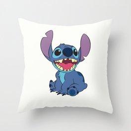 Happy Stitch Throw Pillow