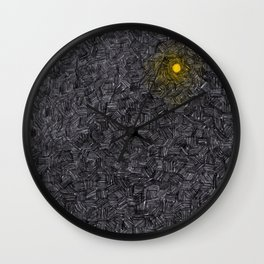 Blurred light in the darkness Wall Clock