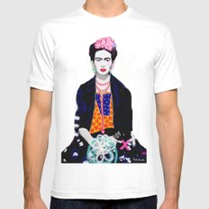 Frida Kahlo by Paola Gonzalez Mens Fitted Tee White MEDIUM