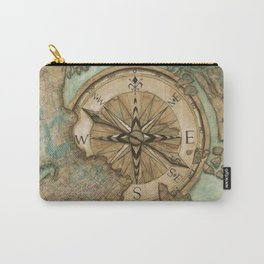 Nautical Compass Carry-All Pouch