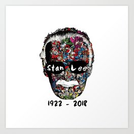 RIP Stan Lee Art Print