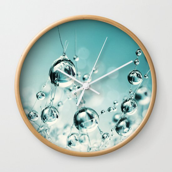 Cactus Candy Blue Wall Clock