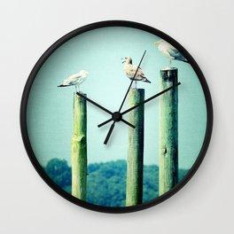 3 sea guls Wall Clock