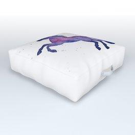 Galaxy Unicorn Watercolor Outdoor Floor Cushion