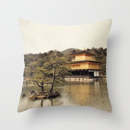 Kinkakuji Throw Pillow