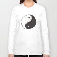 yin yang Long Sleeve T-shirts featuring Yin & Yang by Lili Batista