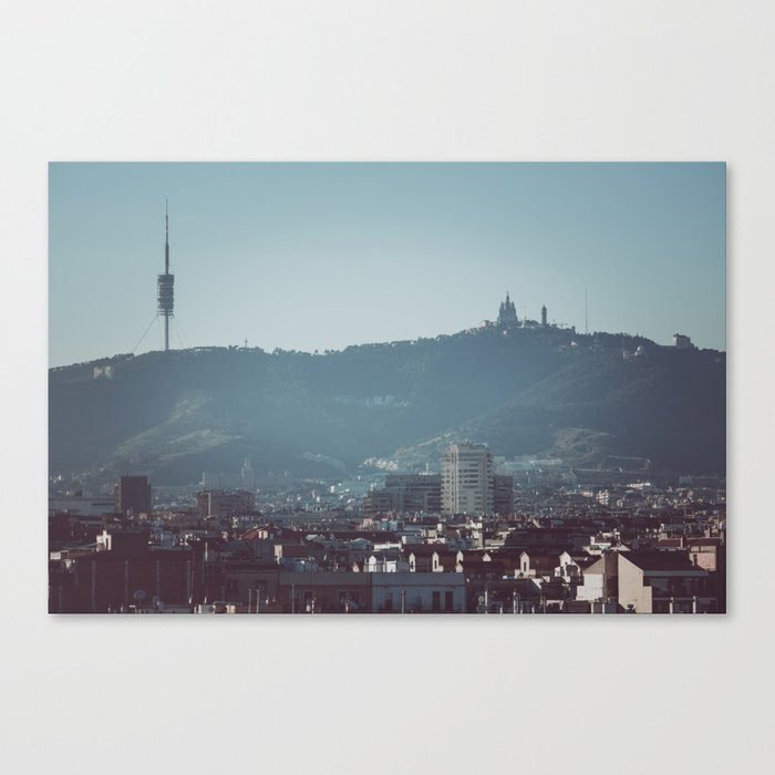 Barcelona from Montjuic Canvas Print