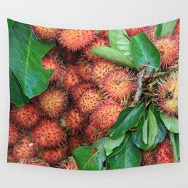 Rambutan Fruits background Wall Tapestry