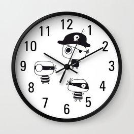 Three Pirates, Black Wall Clock