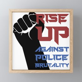 BLM Protest - Rise Up 2 Framed Mini Art Print