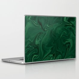 Modern Cotemporary Emerald Green Abstract Laptop & iPad Skin