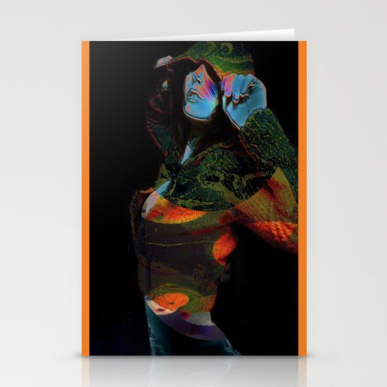 Hooded Woman 2 Stationery Cards