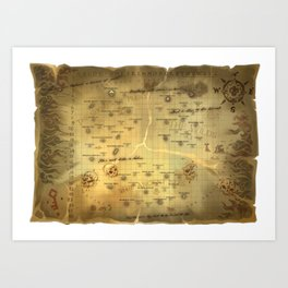 Sea of Thieves Map Art Print