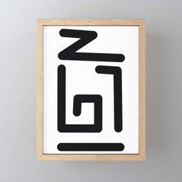 Symbology Framed Mini Art Print