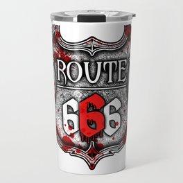 Route 666 I Road to Hell I Satanic  product Travel Mug