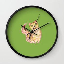 Red Persian Cat Wall Clock