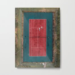 Tennis court, view of drone Metal Print