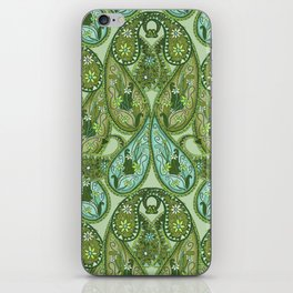 Paisley Design Bamboo iPhone Skin
