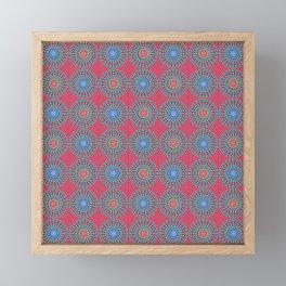 Spinners Pattern Framed Mini Art Print