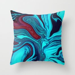 Melted Shallows Throw Pillow