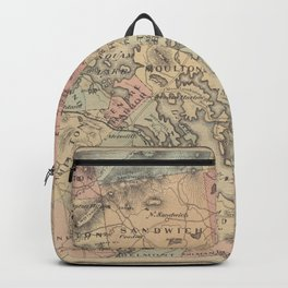 Vintage Map of The NH Lakes Region (1890) Backpack