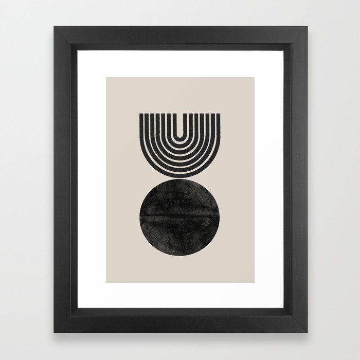 Woodblock Print, Modern Art Framed Art Print