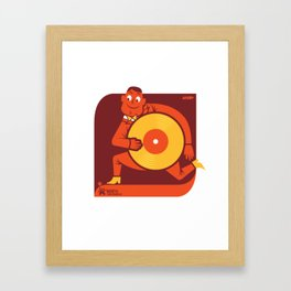 UNDO | Music to the people 12 Framed Art Print