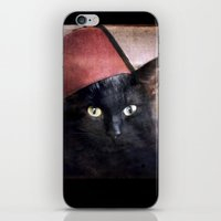 fez iPhone & iPod Skins featuring Fez Felix by The Lonely Pixel