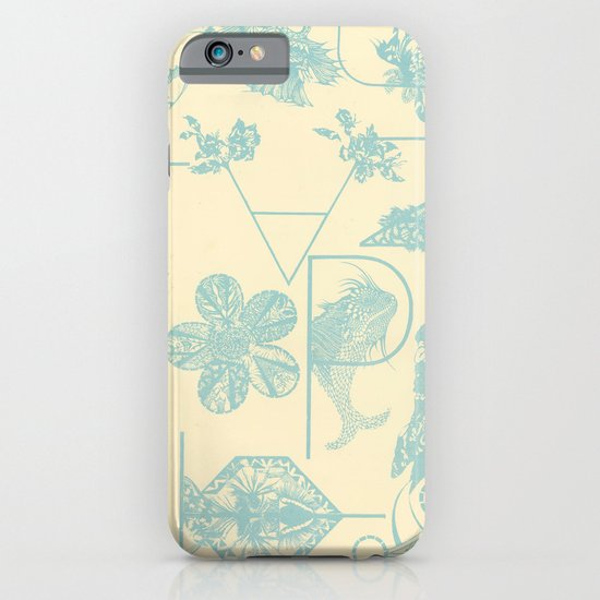Letters in blue iPhone & iPod Case