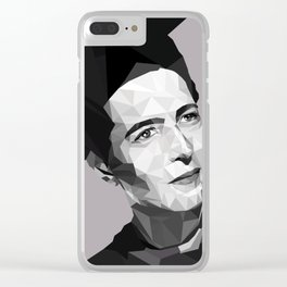 Elle c'est Simone Clear iPhone Case
