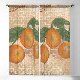 Orange Friends Blackout Curtain