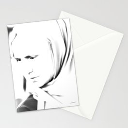 Portrait of a turkish woman at bazaar Stationery Cards