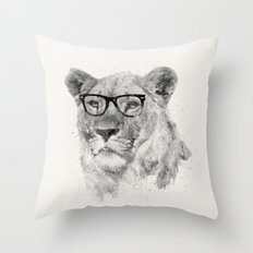 Wild Hipster Throw Pillow