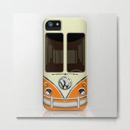 Special Gift for Summer Holiday orange minivan minibus iPhone 4 4s 5 5c 6, pillow case and mugs Metal Print