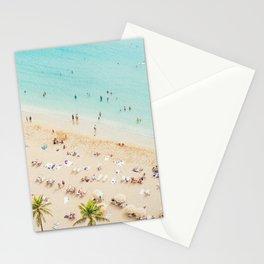 Waikiki beach in Hawaiian summer. Stationery Cards