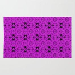 Dazzling Violet Pinwheels Rug
