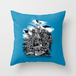 Treasures of the Deep Throw Pillow
